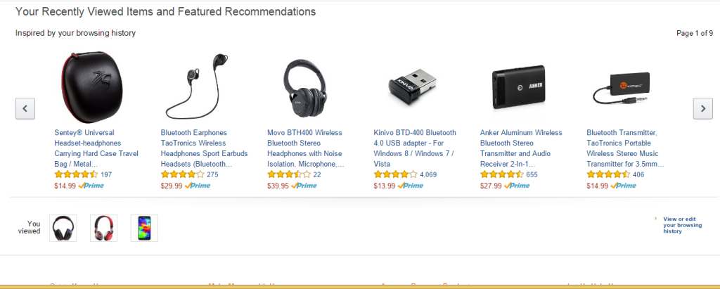 Amazon Your recently