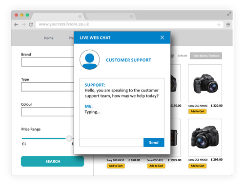 live chat ecommerce retargeting blog