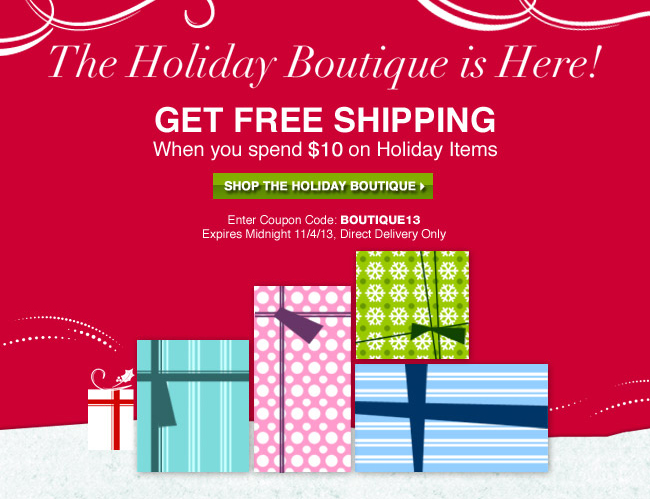 Holiday Free Shipping