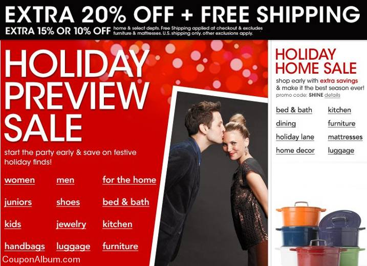 Holiday Priview Sale