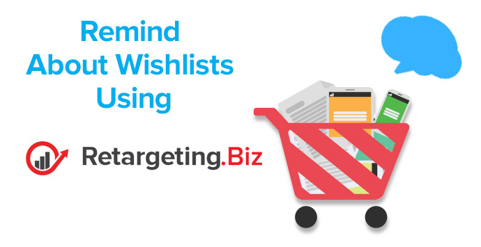 Remind people about their wishlists using retargeting
