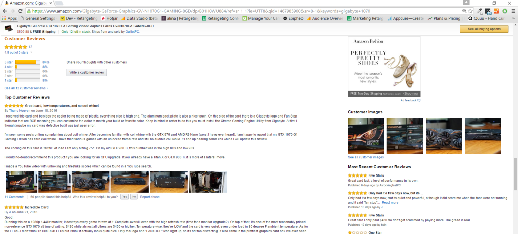 Customer Review Example from Amazon