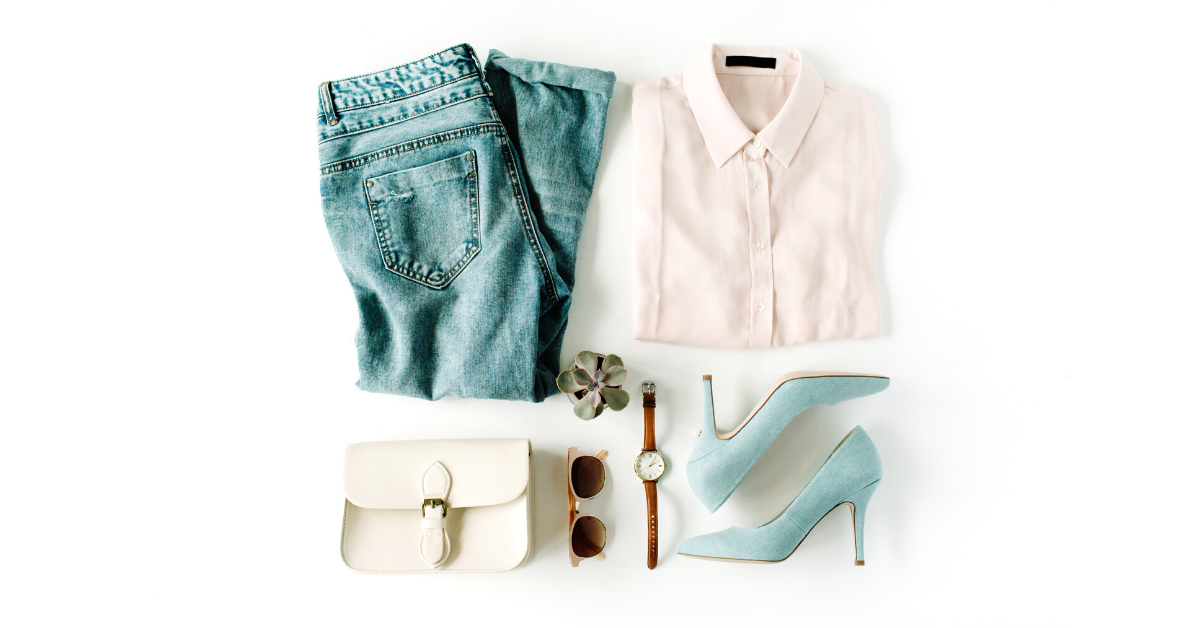 blue and white clothes