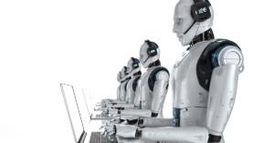 Robots using laptops