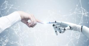 Robot touching a human