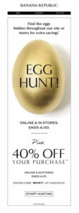 A golden Easter egg used for an online marketing campaign