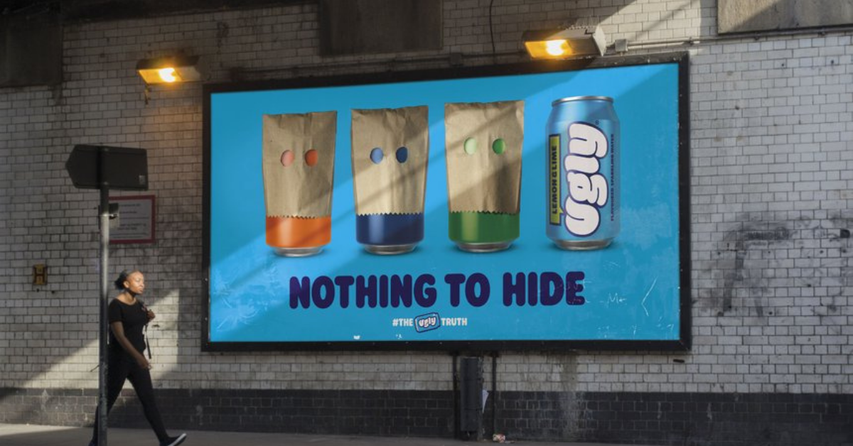 Advertising banner for Ugly Drinks