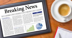 Online breaking news article