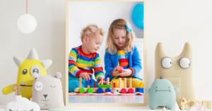 Kids playing with toys