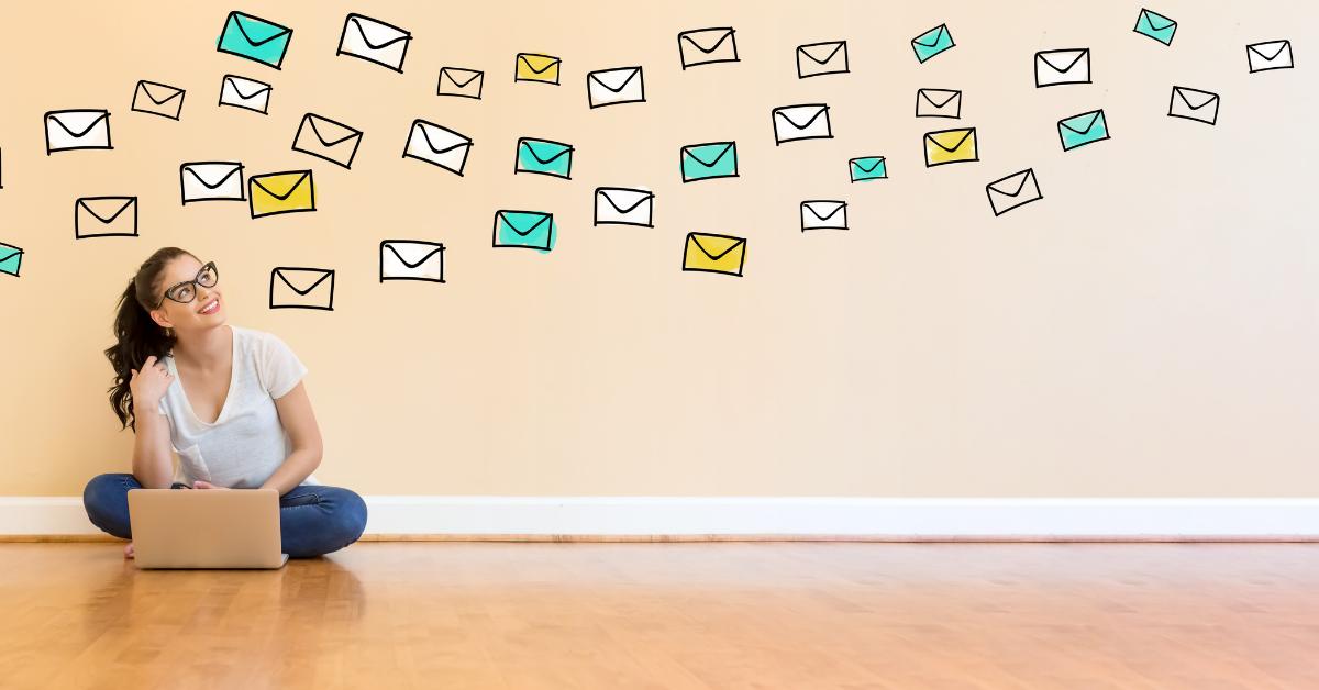 Lady sending emails